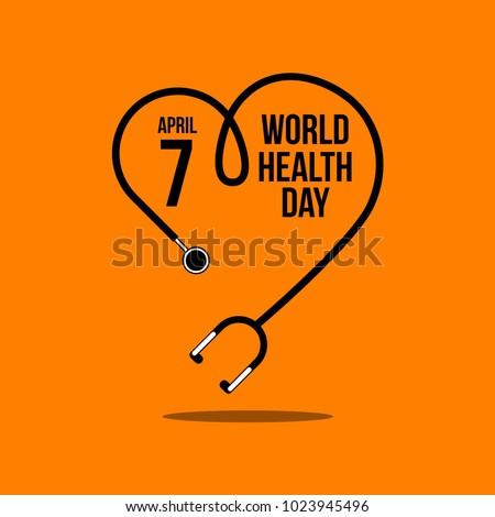 World Health Day Vector Template Design