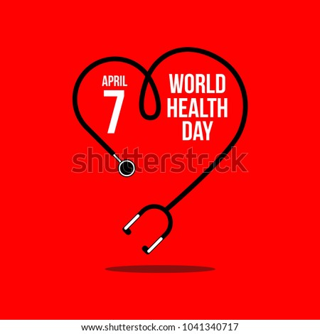 World Health Day Vector Template Design