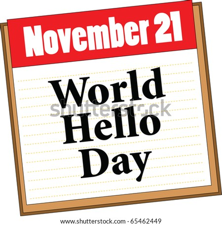 World Hello Day World Hello Day Stock Vector