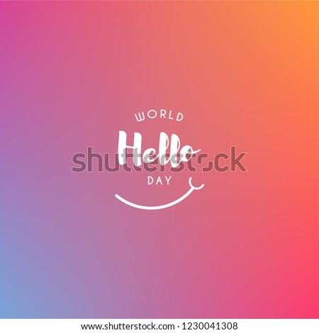 world hello day design template