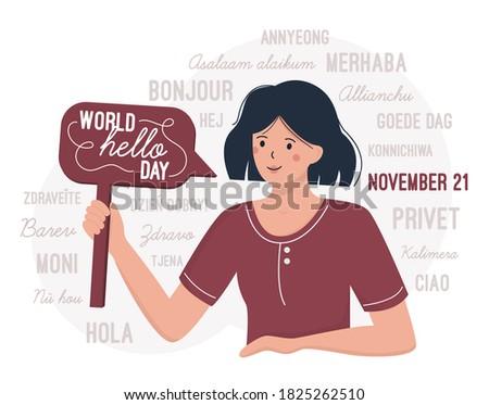 world hello day november 21 a