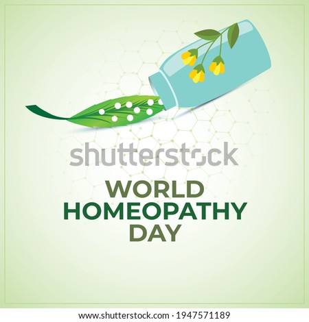 World Homeopathy Day. green abstract background Stock photo ©