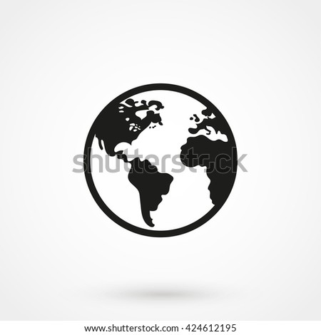 world Icon isolated on background. Modern flat pictogram, business, marketing, internet concept. Trendy Simple vector symbol for web site design or button to mobile app. Logo illustration