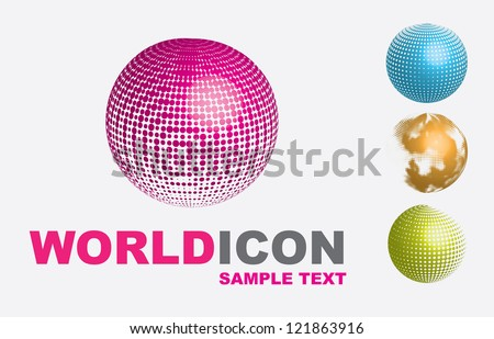 World icons over white background vector illustration