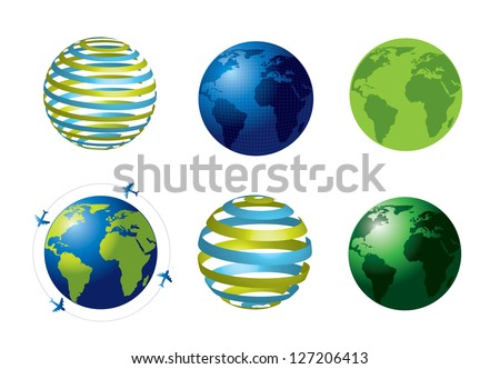 World icons over white background vector illustration