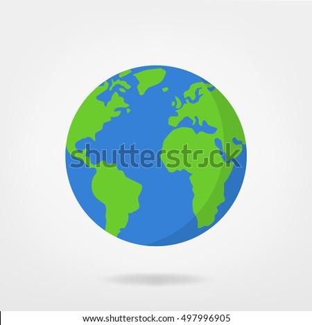 world illustration - planet earth vector graphic