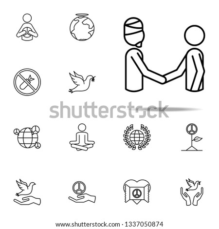world in religions icon. human rights icons universal set for web and mobile