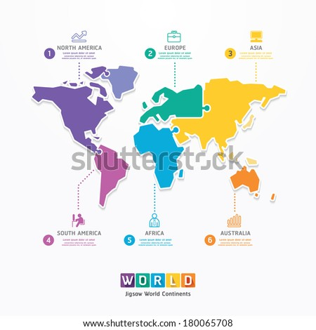 world infographic template