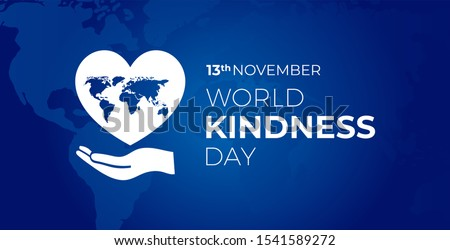 world kindness  day blue