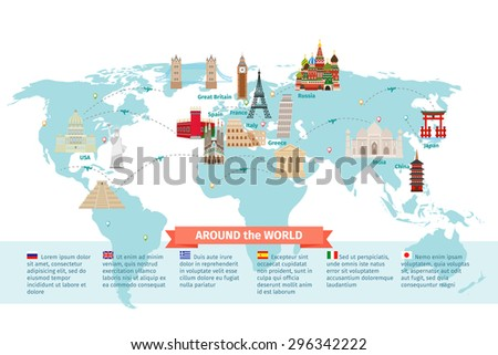 world landmarks on map kremlin