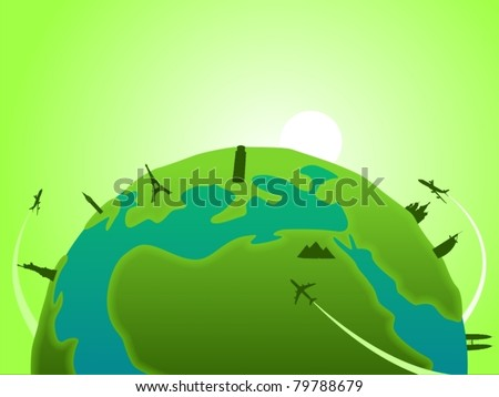 World Landmarks-vector