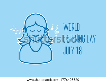 world listening day vector