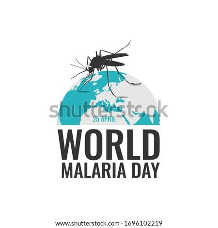 World malaria day background vector image. World malaria day concept style vector image Foto d'archivio ©