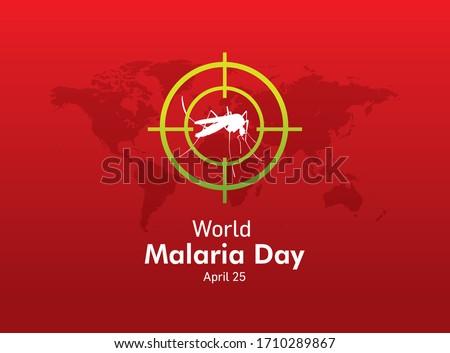 World Malaria Day Concept. Danger bacteria carrier cause dangerous illness, disease design, vector illustration. 25th April World Malaria Day. Foto d'archivio ©
