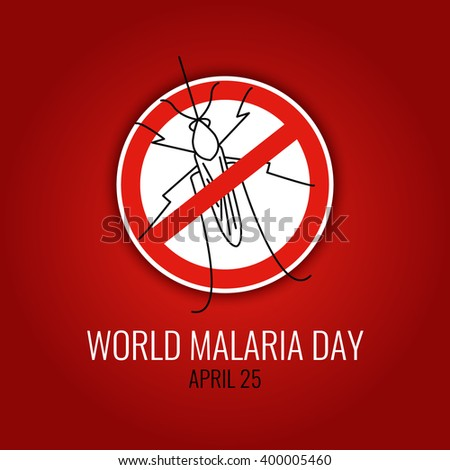 world malaria day concept with