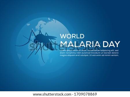 world malaria day illustration poster Foto d'archivio ©