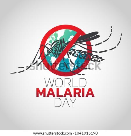 World Malaria Day logo icon design, vector illustration Foto d'archivio ©