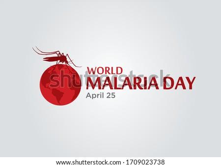 World Malaria Day logo icon design, vector illustration. Malaria Day vector banner and poster design.  Foto d'archivio ©