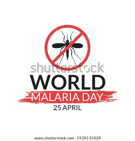World malaria day logo or banner with mosquito sign Foto d'archivio ©
