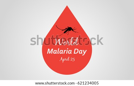 world malaria day vector art