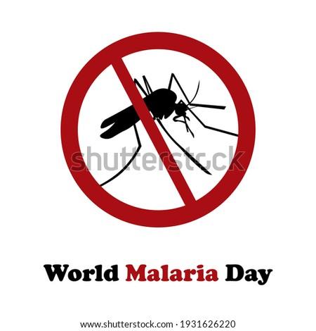 World Malaria Day ,Vector Illustration Foto d'archivio ©