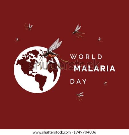 World Malaria day, vector illustration for design theme world malaria day  Foto d'archivio ©