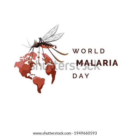 World malaria day vector, illustration of malaria, and the world for design world malaria day Foto d'archivio ©