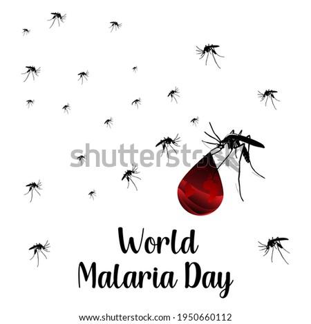 world malaria day web banner concept. illustration vector Foto d'archivio ©