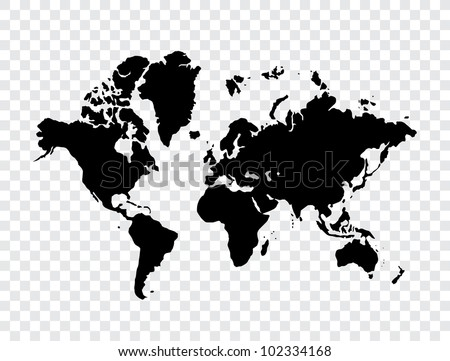 World map silhouette download free vector art stock graphics images world map gumiabroncs Images