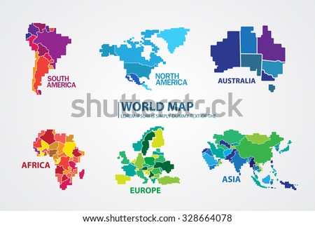 North America Map Vector Download Free Vector Art Stock - World map north america