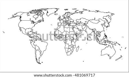 World map #481069717