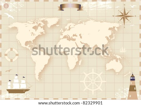 Ancient world map illustration download free vector art stock world map gumiabroncs Image collections