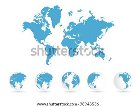 Digital Globe Maps Download Free Vector Art Stock Graphics Images