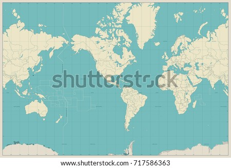 world map americas centered map....