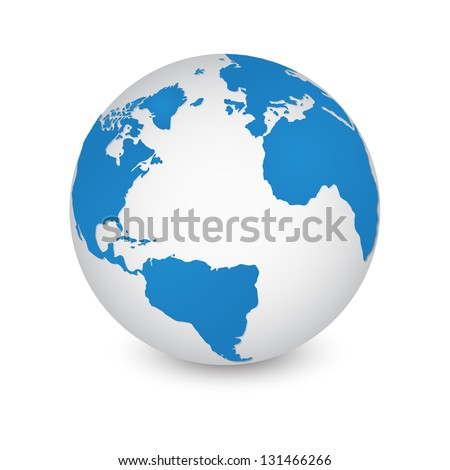 world map and globe detail