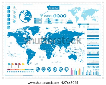 world map and infograpchic