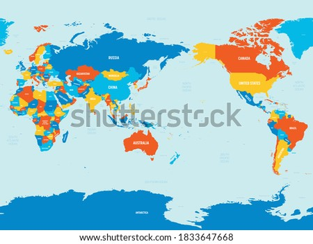 world map   asia  australia and