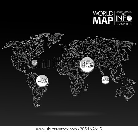 Free world map patterns vector download free vector art stock world map background in polygonal style modern elements of info graphics world map gumiabroncs Image collections