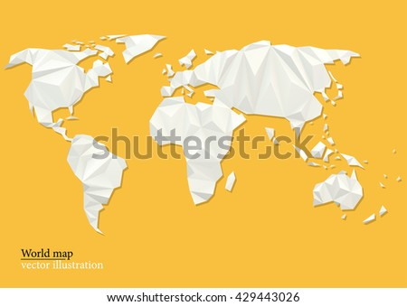 Free low poly background globe vector download free vector art world map background in polygonal style vector background low poly style gumiabroncs