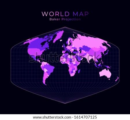 world map baker dinomic