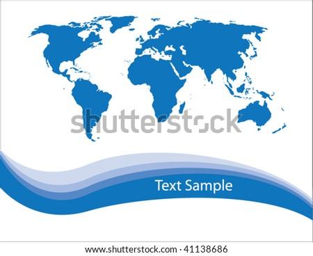 world map vector. stock vector : World map