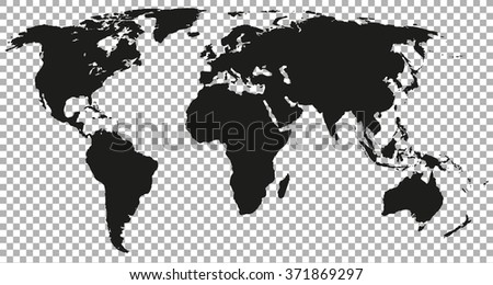 9 stylish vector world map vector download free vector art stock world map black colored silhouette earth stylish gumiabroncs Image collections
