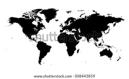 world map black silhouette map