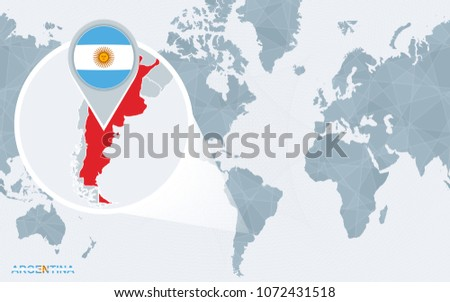 Free vector map of argentina free vector art at vecteezy world map centered on america with magnified argentina blue flag and map of argentina gumiabroncs Images