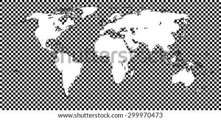 World map with latitude and longitude download free vector art world map checkered black 1 big squares gumiabroncs Image collections