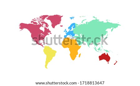 World map color vector modern ストックフォト ©