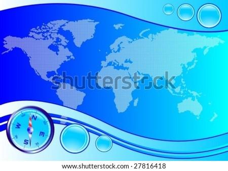 world map compass vector