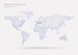 World map connection. Vector illustration