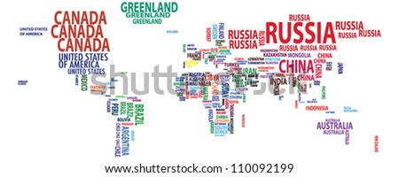 World map/countries/continents/nations vector
