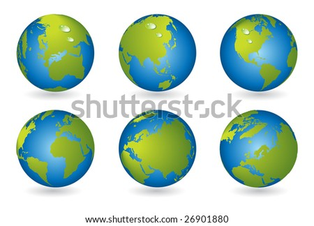 World Map 3d Globe. World map, 3D globe series